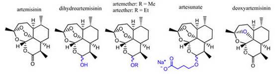 Artemisinin-Dihydroartemisinin-Artemether-Artesunate-Deoxyartemisinin