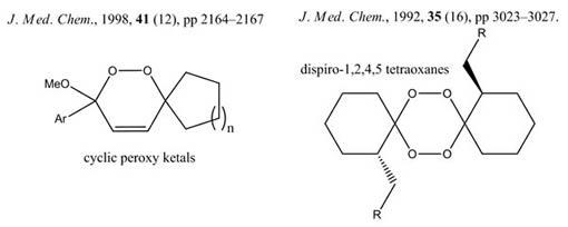 Cyclic Peroxy Ketals & Dispiro-1,2,4,5 Tetraoxanes