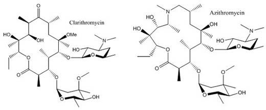 Clarithromycin-Azithromycin