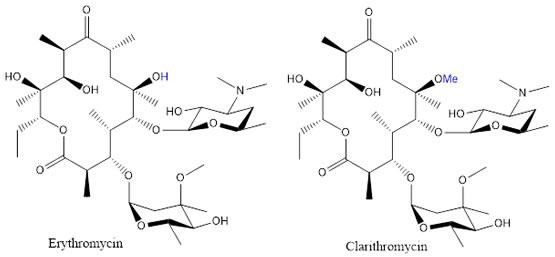 Erythromycin & Clarithromycin