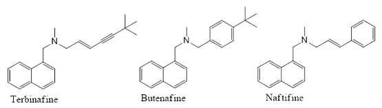 Terbinafine, Butenafine & Naftifine