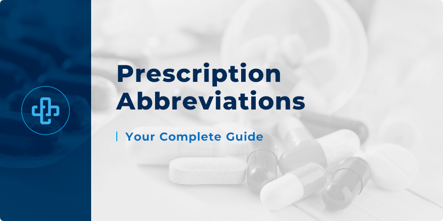 Prescription Abbreviations