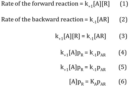 First steps in the derivation of an expression for the proportion of occupied receptors