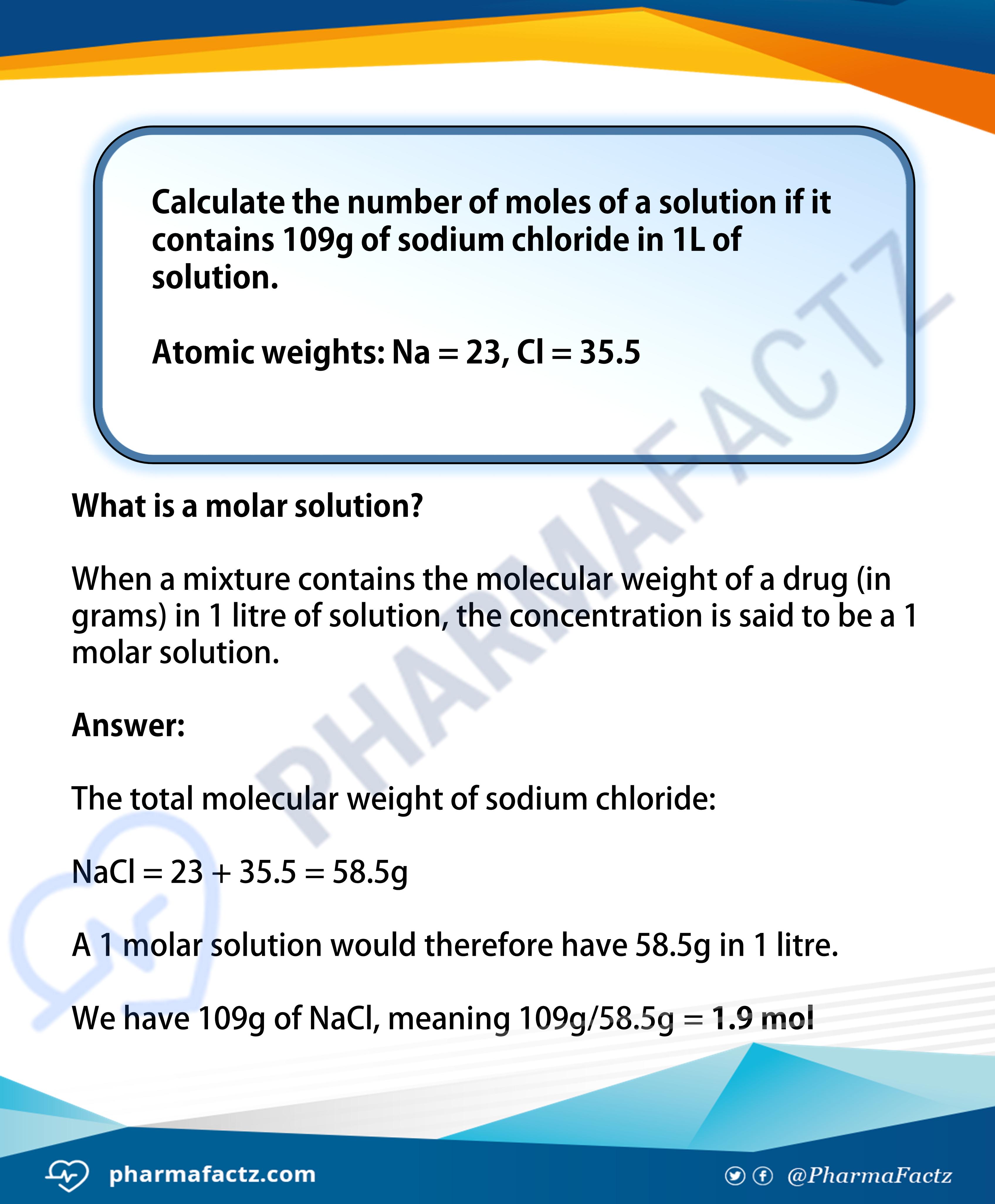 Molarity Calculations 1