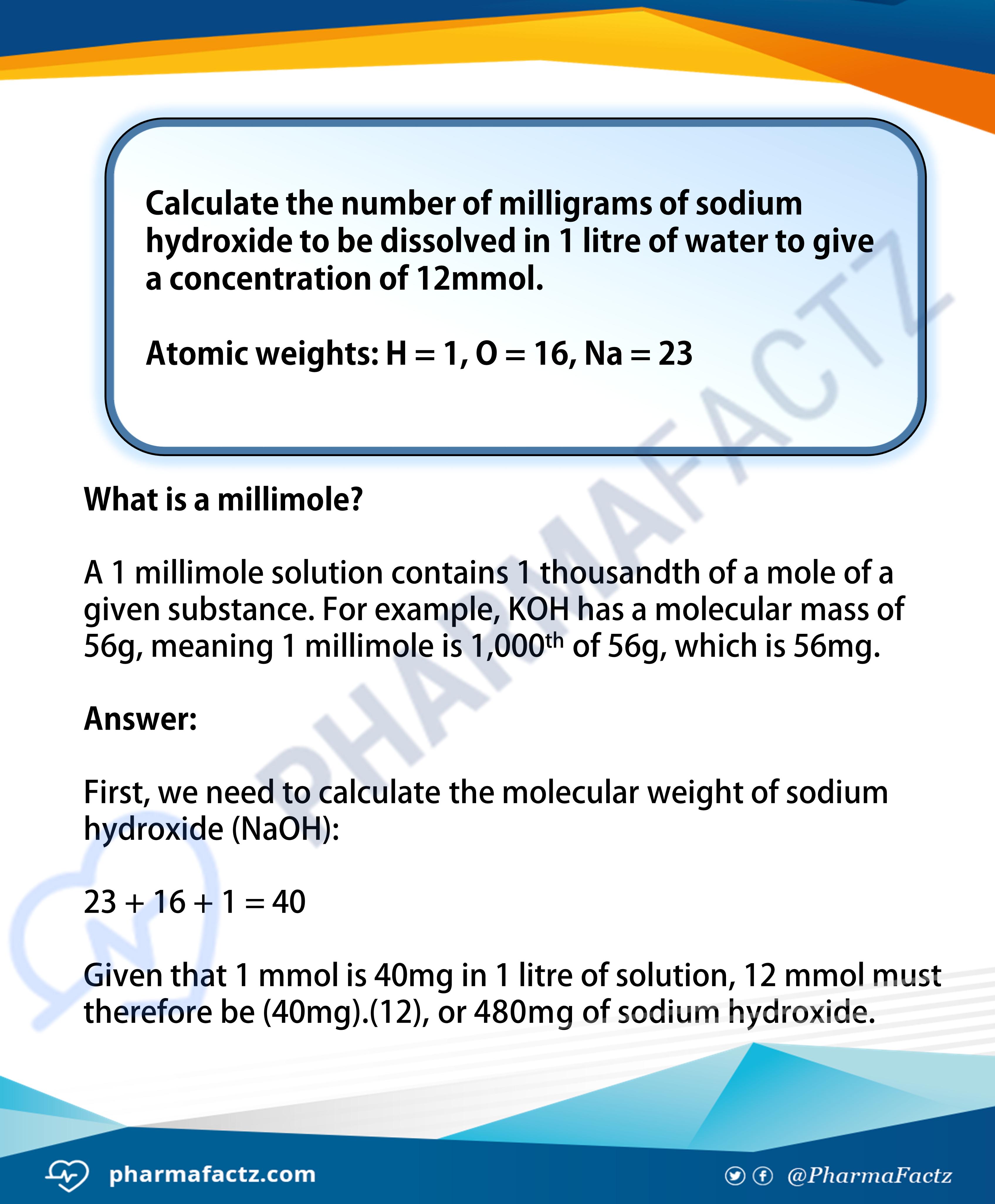 Molarity Calculations 2