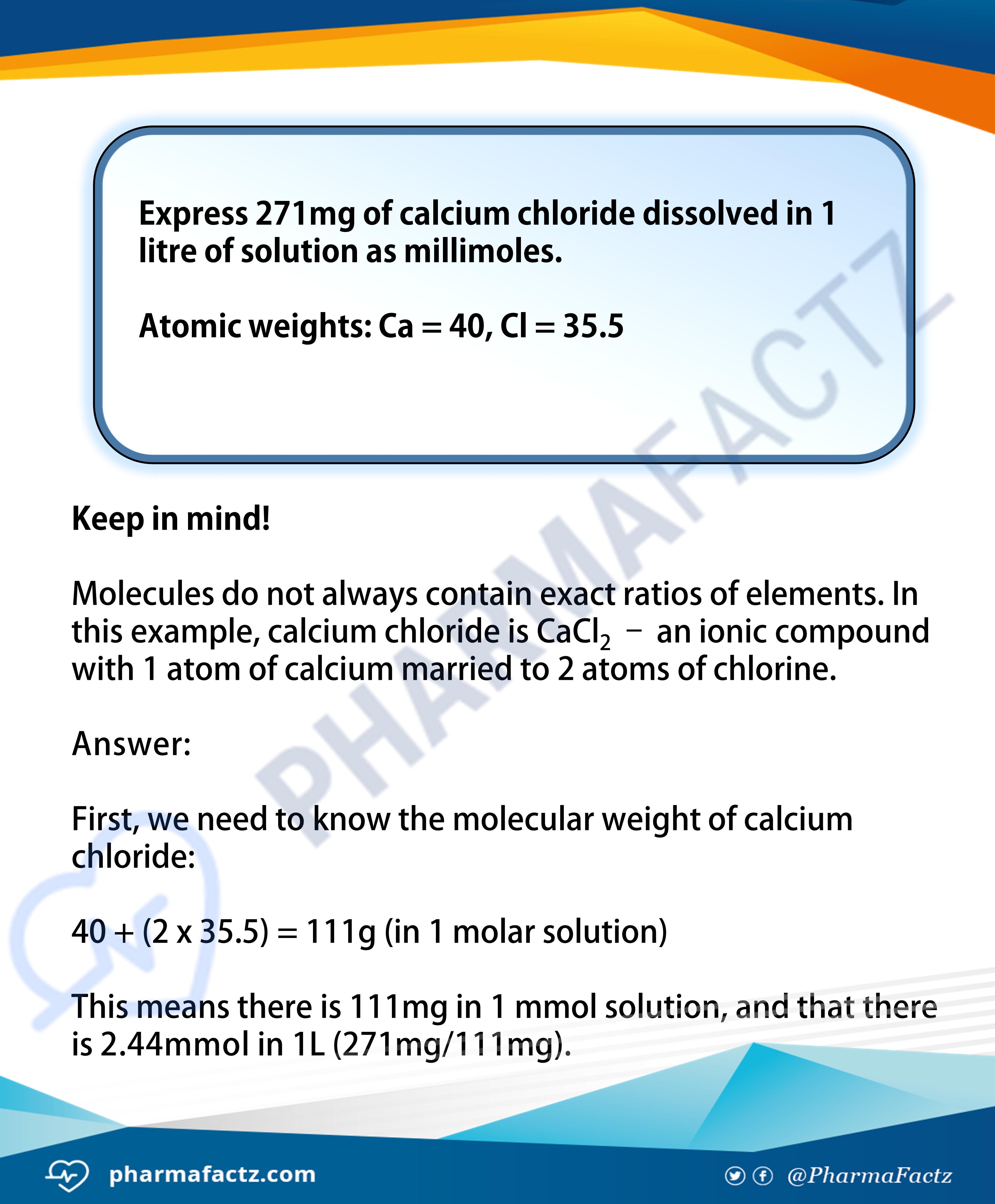 Molarity Calculations 3