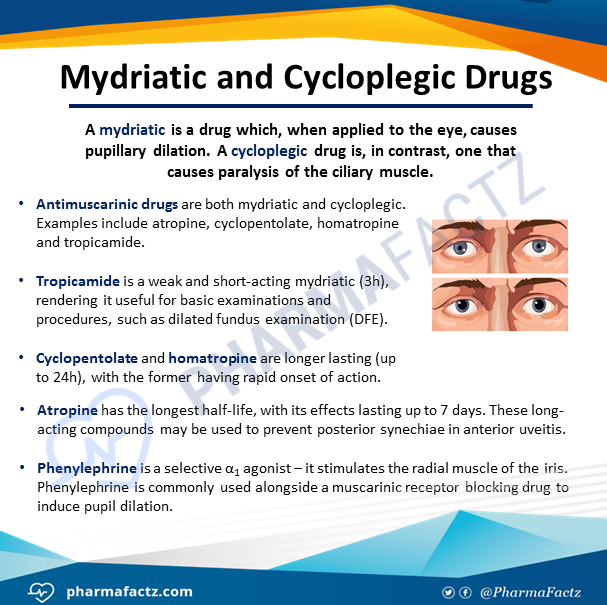 Mydriatic & Cycloplegic Drugs