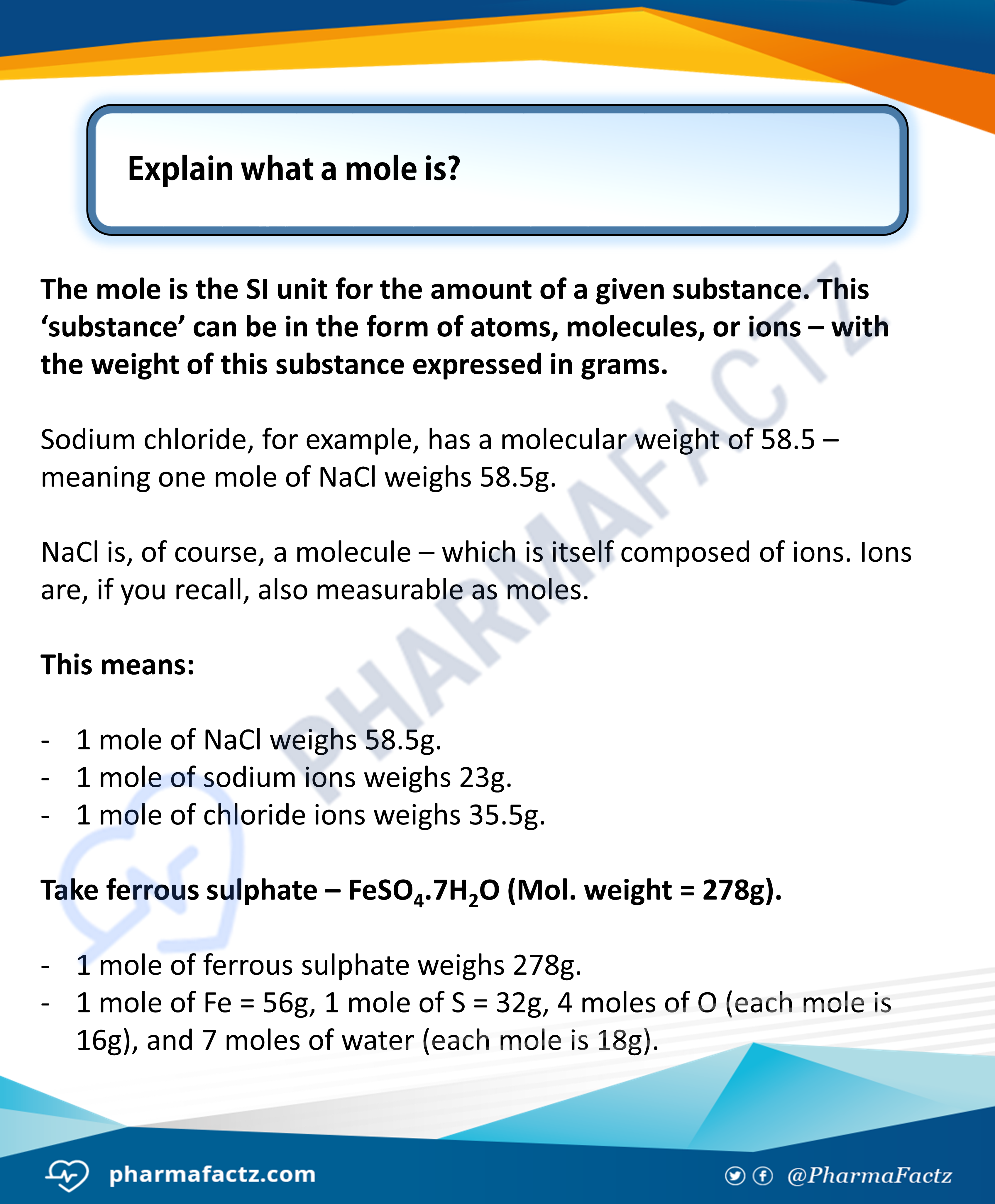 What is a Mole?