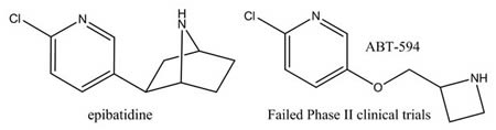 Epibatidine Failed Phase II Clinical Trials