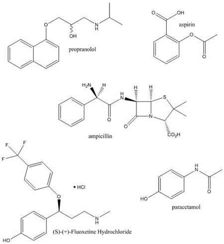 Structures of Certain Drugs